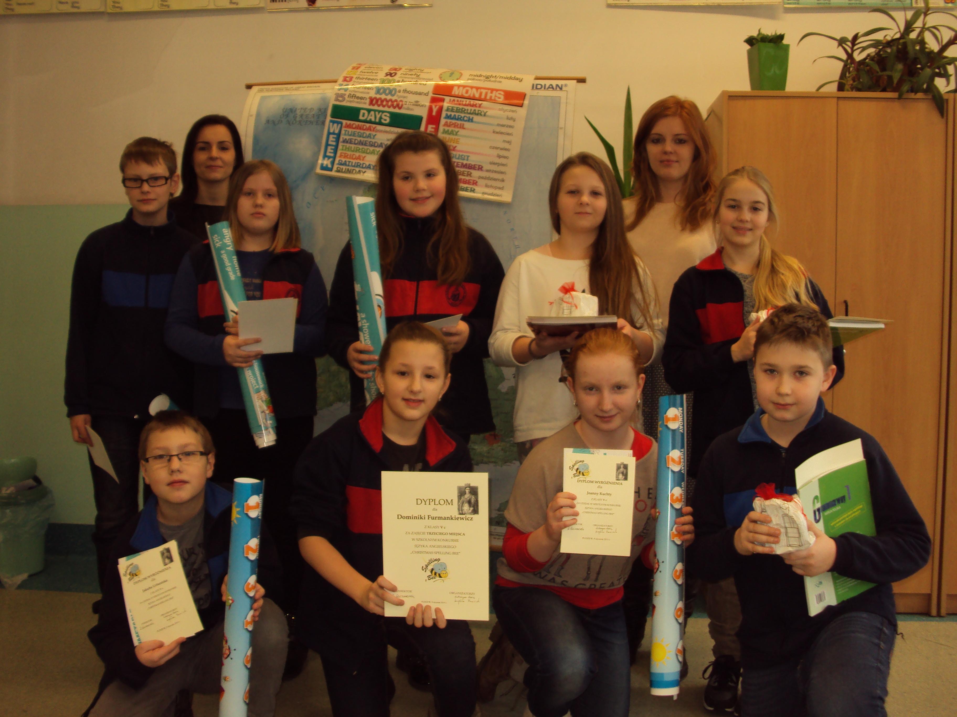 Christmas spelling bee competition, czyli świąteczny konkurs literowania – ciąg dalszy