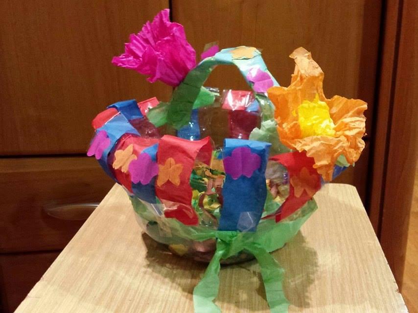 Świąteczne eko-koszyczki z butelki