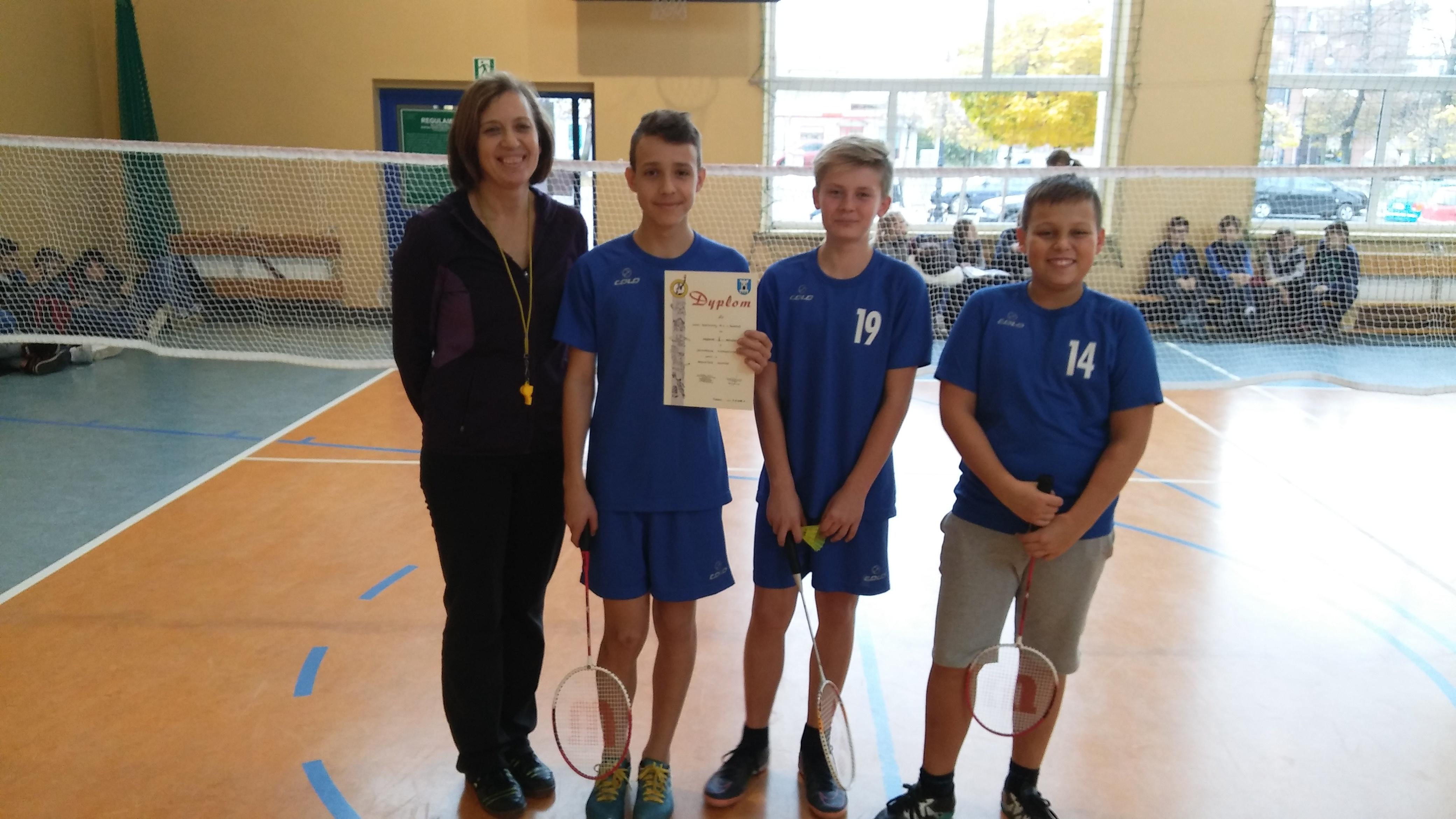 Sukces badmintonistów!