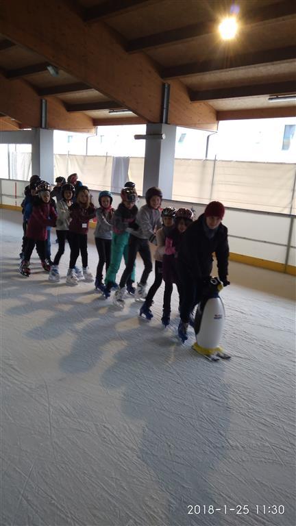 Klasa IVa na lodowisku