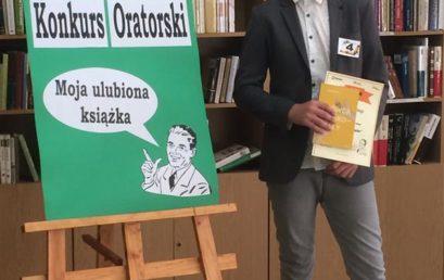 Adam Jaźwiecki laureatem finału powiatowego Konkursu Oratorskiego