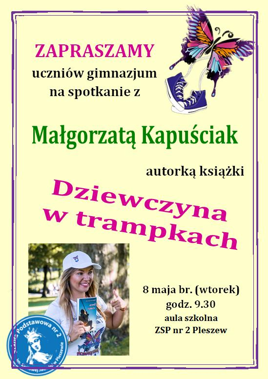 Spotkanie z Małgorzatą Kapuściak