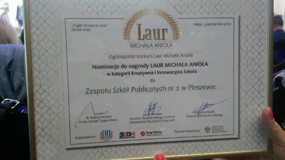 Jesteśmy w gronie najbardziej kreatywnych i innowacyjnych szkół w Polsce!