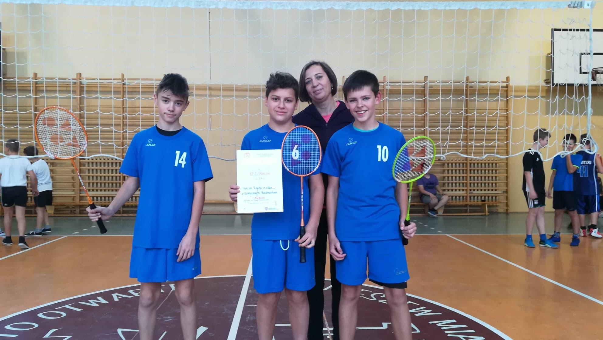 Mistrzostwa Rejonu w Badmintonie Drużynowym chłopców