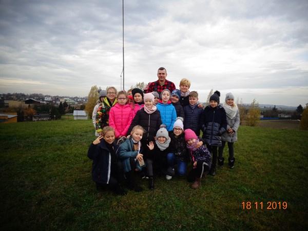 Uczniowie klasy II b w Oczyszczalni Ścieków i Zakładach Wodociągów i Kanalizacji