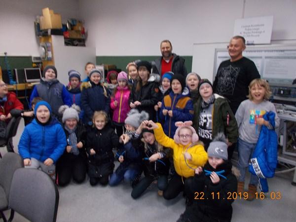 Uczniowie klasy IIa w CKZ