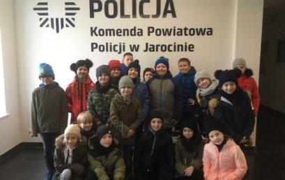Uczniowie klasy IIId zwiedzili Komisariat Policji w Jarocinie
