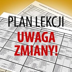 Nowy plan lekcji od 10.02.2020 r.