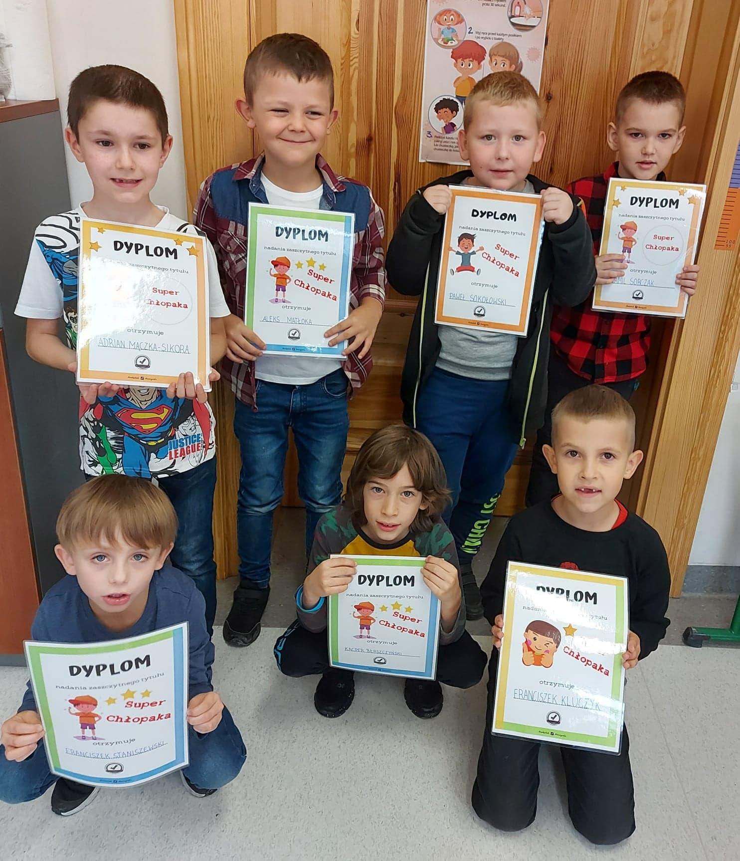 Klasa Ib świętowała Dzień Chłopaka