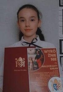 Małgorzata Baran z wyróżnieniem