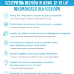 Szczepienia uczniów w wieku 12-18 lat rekomendacje dla rodziców